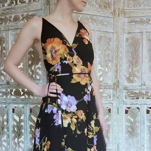 Honey punch floral wrap maxi dress